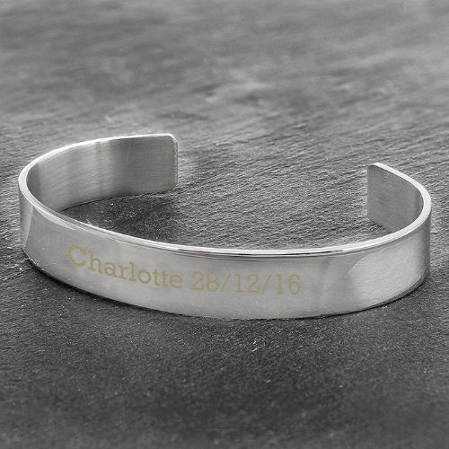 Personalised Stainless Steel Bangle
